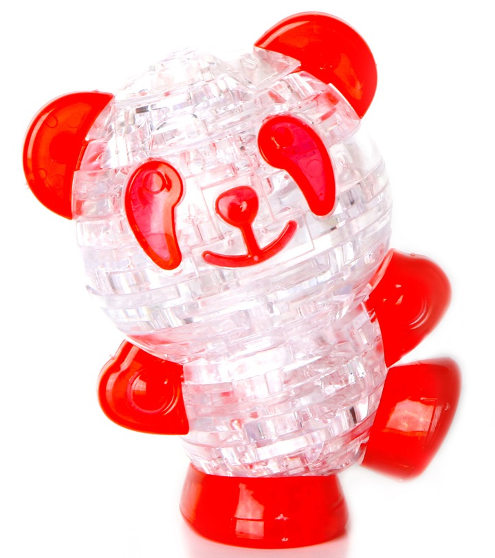 3D Puzzle Магический кристалл: Панда с подсветкой кристальный пазл 3d crystal puzzle панда