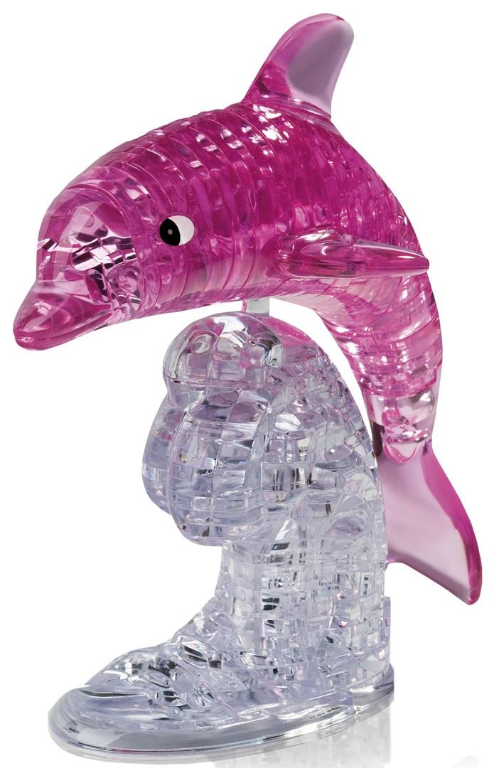 3D Puzzle Магический кристалл: Дельфин розовый с подсветкой пазлы crystal puzzle 3d головоломка вулкан 40 деталей