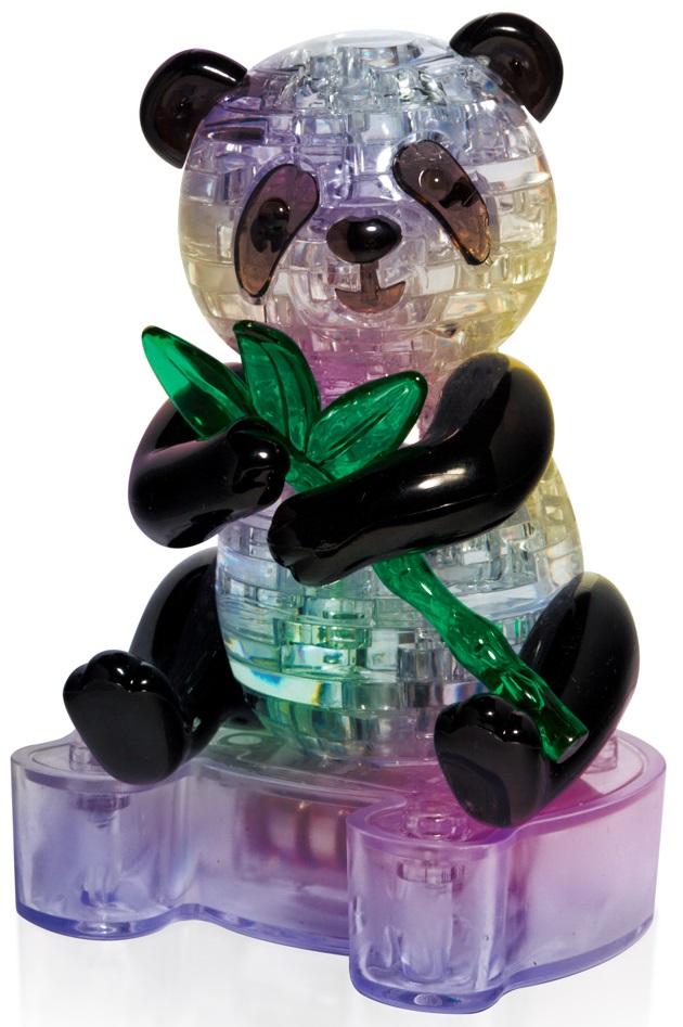 3D Puzzle Магический кристалл: Панда с веткой с подсветкой кристальный пазл 3d crystal puzzle панда