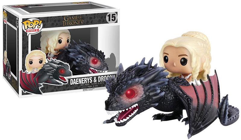 Фигурка Funko POP: Rides Game Of Thrones – Daenerys &amp; Drogon (9,5 см)Закажите фигурку Funko POP Rides Game Of Thrones Daenerys &amp; Drogon и получите дополнительные 150 бонусов на вашу карту.<br>