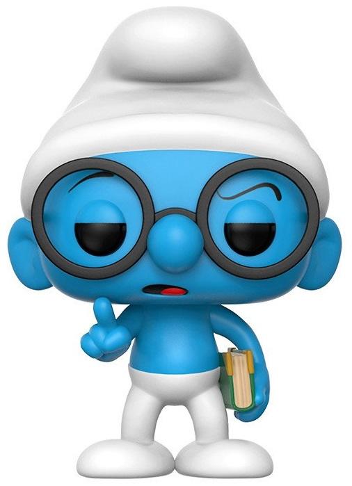 Купить со скидкой Фигурка Funko POP Animation: The Smurfs – Brainy Smurf (9,5 см)