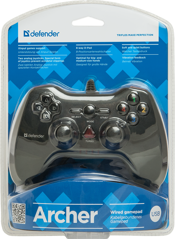Геймпад Defender Archer проводной для PC геймпад defender archer проводной геймпад