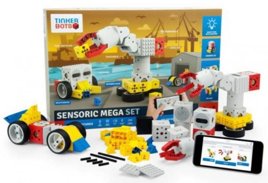 Конструктор Большой сенсорный наборС комплектом Большой сенсорный набор вы сможете получить максимальное впечатление от игры и обучения: стройте и управляйте своими собственными роботами и добавляйте к ним LEGO и другие кубики!<br>