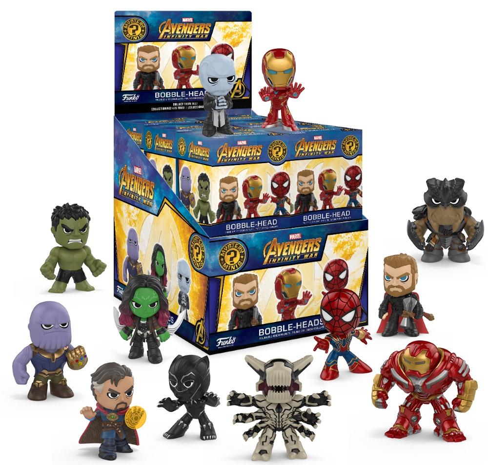 Фигурка Avengers Infinity War  Funko POP Marvel: Mystery Minis (в ассортименте)Фигурка Avengers Infinity War Funko POP Marvel: Mystery Minis создана по мотивам фантастического фильма режиссеров Энтони и Джо Руссо «Мстители: Война бесконечности».<br>