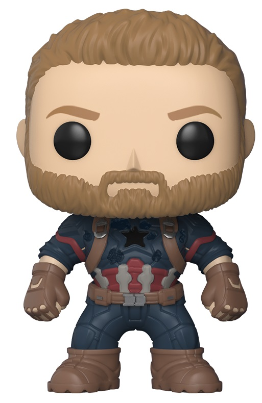 Фигурка Funko POP Marvel: Avengers Infinity War – Captain America Bobble-Head (9,5 см) фигурка funko pop bobble marvel black panther nakia