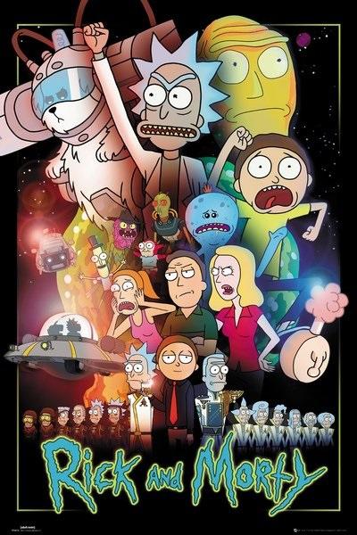 Плакат Rick And Morty: SpaceПлакат Rick And Morty: Space создан по мотивам популярного американского мультсериала «Рик и Морти».<br>