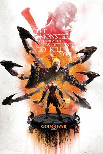 Плакат God Of War майка классическая printio gears of war 2