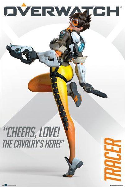 Плакат Overwatch: TracerПлакат Overwatch: Tracer по мотивам компьютерной игры в жанре шутера от первого лица, разработанной компанией Blizzard Entertainment.<br>