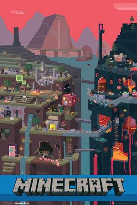 Плакат Minecraft: WorldПлакат Minecraft: World создан по мотивам популярной компьютерной игры Minecraft.<br>