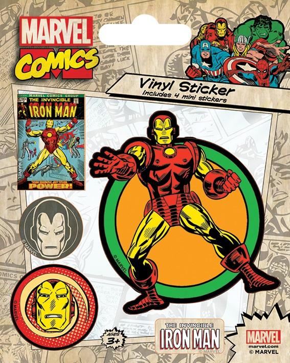 все цены на Набор стикеров Marvel Comics: Iron Man Retro