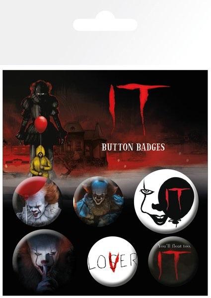 Набор значков ITНабор значков IT создан по мотивам фильма ужасов режиссёра Андреса Мускетти «Оно», вышедшего на экраны в 2017 году.<br>