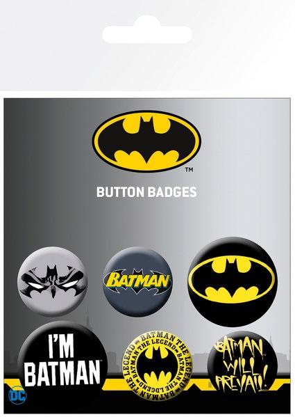 Набор значков Batman Comics брелок dc comics batman symbol