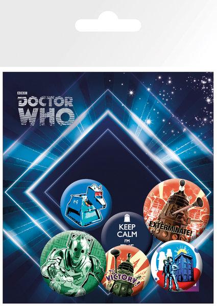 Набор значков Doctor Who мессингем саймон доктор кто 9 ловушка доктора сериал doctor who
