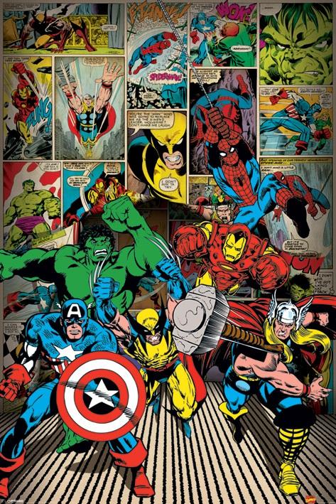 Плакат Marvel Comics: Heroes marvel comics marvel universe avengers earth s mightiest heroes volume 3