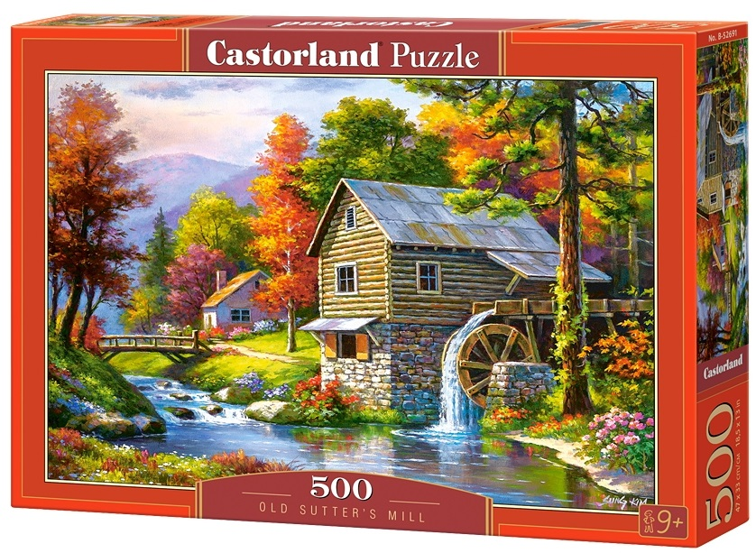 Puzzle-500: Водяная мельница (Old Sutter's Mill) puzzle 500 стокгольм швеция b 52790