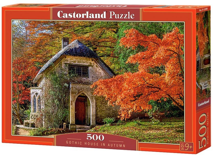 Puzzle-500: Краски осени (Gothic House in Autumn) puzzle 500 норвегия олесунн кб500 7922