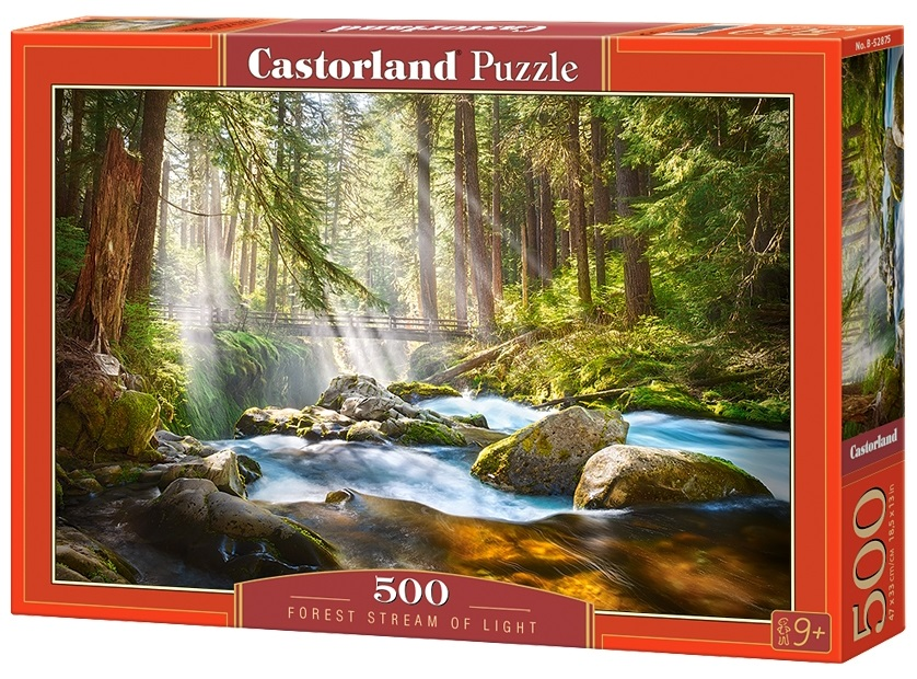 Puzzle-500: Лесной ручей (Forest Stream of Light) puzzle 500 норвегия олесунн кб500 7922