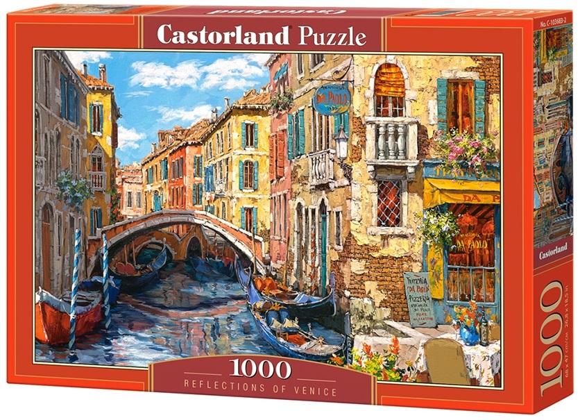 Puzzle-500: Отражения Венеции (Reflections of Venice)Соберите пазл Отражения Венеции, состоящий из 1000 элементов, и насладитесь яркими и сочными красками картины, которая подарит вам и окружающим прекрасные эмоции.<br>