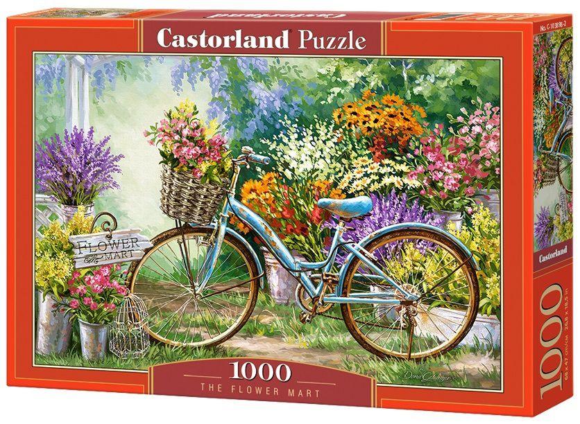 Puzzle-500: Цветочный марш (The Flower Mart)Соберите пазл Цветочный марш, состоящий из 1000 элементов, и насладитесь яркими и сочными красками картины, которая подарит вам и окружающим прекрасные эмоции.<br>