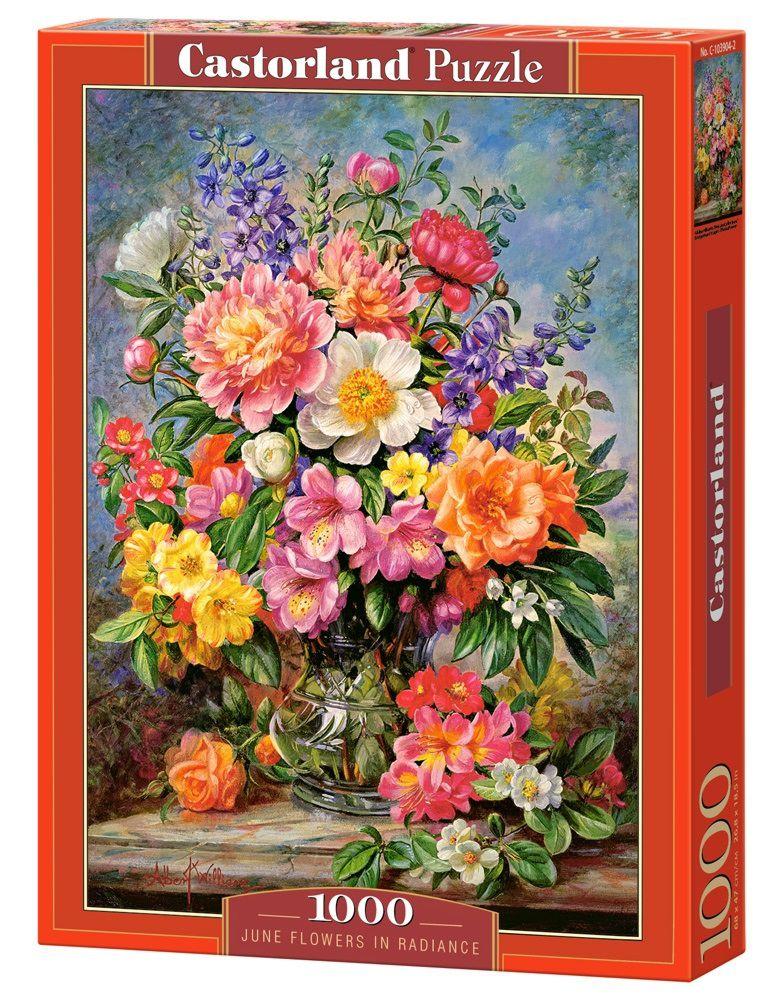 Puzzle-500: Цветы в сиянии (June Flowers in Radiance)Соберите пазл Цветы в сиянии, состоящий из 1000 элементов, и насладитесь яркими и сочными красками картины, которая подарит вам и окружающим прекрасные эмоции.<br>