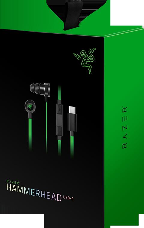 Гарнитура Razer Hammerhead USB-C для PC / Android игровые наушники razer hammerhead v2