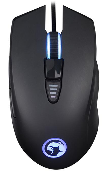 Мышь Marvo Scorpion G982 игровая проводная оптическая с подсветкой для PCПрофессиональная игровая оптическая мышь Marvo Scorpion G982 построена на высокоточном игровом чипсете Pixart 3325 поддерживающим разрешение до 5000 DPI. Мышь имеет 6-ми кнопочную конструкцию и выделенную кнопку переключения DPI.&#13;<br>&#13;<br> Дополнительные кнопки можно перепрограммировать с помощью специального ПО. Так же с помощью ПО можно сделать &amp;ndash; тонкие настройки мыши, управления RGB подсветкой и записи макро-команд.<br>