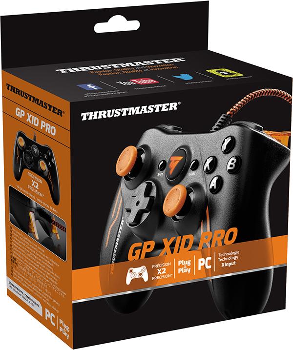 Проводной геймпад Thrustmaster GP XID Pro Edition для PCГеймпад Thrustmaster GP XID Pro Edition моментально распознается системой Windows в качестве геймпада Xbox. Этот геймпад с полной поддержкой подключения типа Plug &amp; Play не требует установки и регулировки параметров &amp;ndash; просто подключите и играйте!<br>