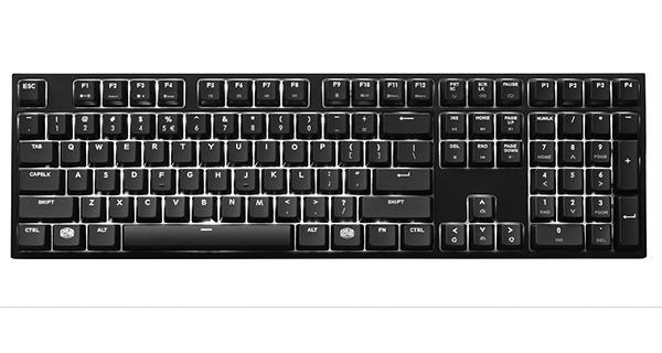 Клавиатура Cooler Master MasterKeys Pro L White LED Cherry MX Red игровая проводная механическая с подсветкой для PC (SGK-4070-KKCR1-RU) cooler mastermech cherry mx blue black игровая клавиатура