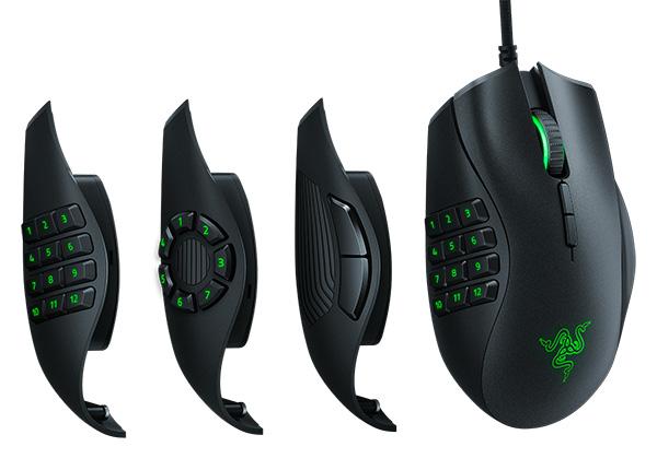 Мышь Razer Naga Trinity проводная оптическая игровая для PCЛучшая мышь с тремя сменными боковыми панелями для MOBA и MMO игр.<br>
