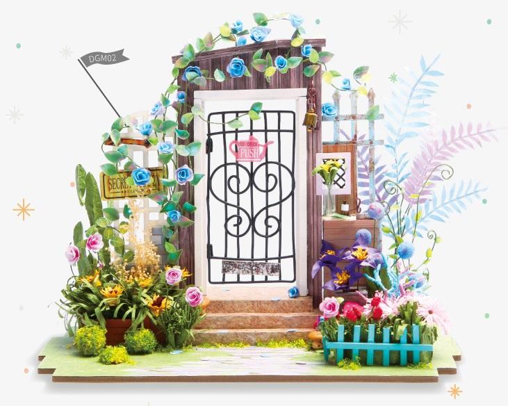 Конструктор Интерьер в миниатюре: Калитка в цветах калитка на лестницу от детей минск