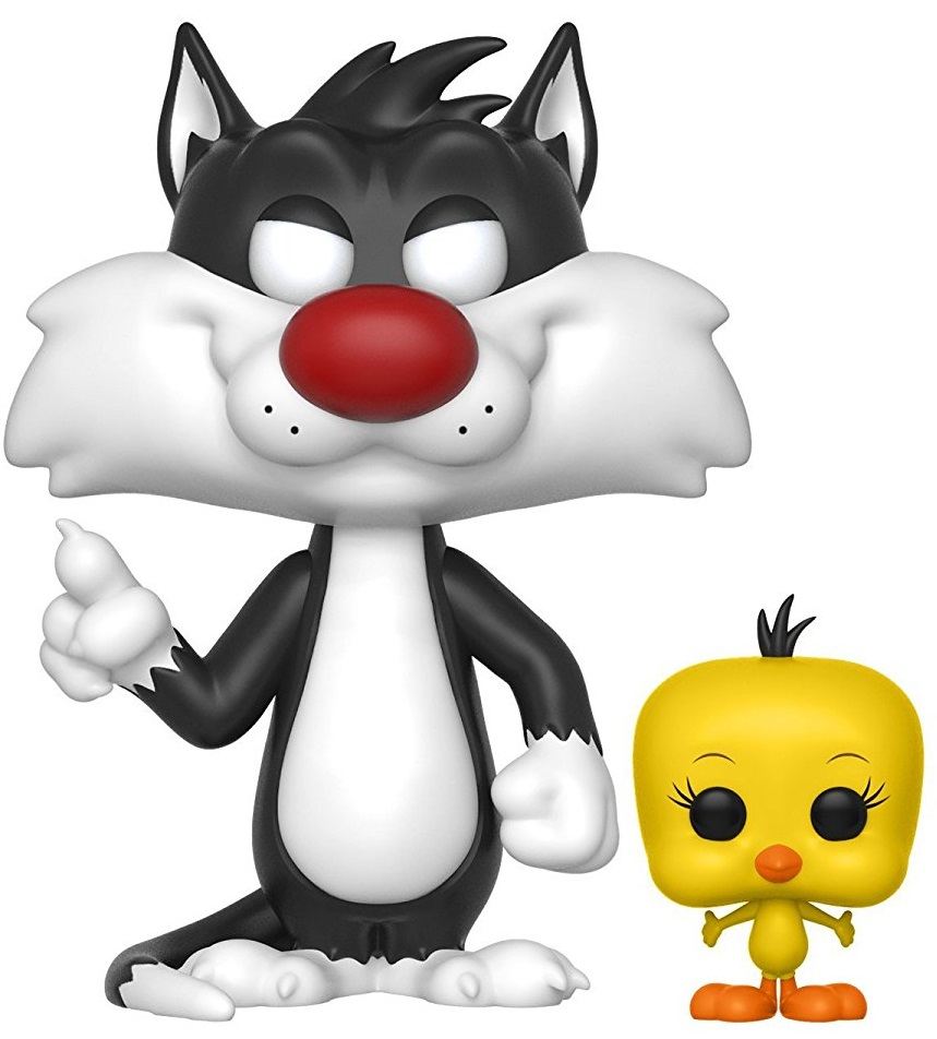 Фигурка Looney Tunes Funko POP Animation: Sylvester & Tweety (9,5 см) модель дома looney tunes b21103