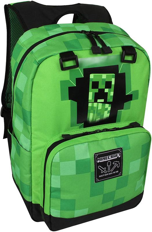 Рюкзак Minecraft: Creepy Creeper (зеленый)Оригинальный рюкзак Майнкрафт с двумя основными отделениями для переноски наиболее ценных предметов и артефактов. Рюкзак Minecraft, это идеальный аксесссуар для фанатов игры. Его усиленные лямки и спинка, помогут ребенку чувствовать себя комфортно, а большое наличие внутренних карманов и отделений, помогут с порядком.<br>