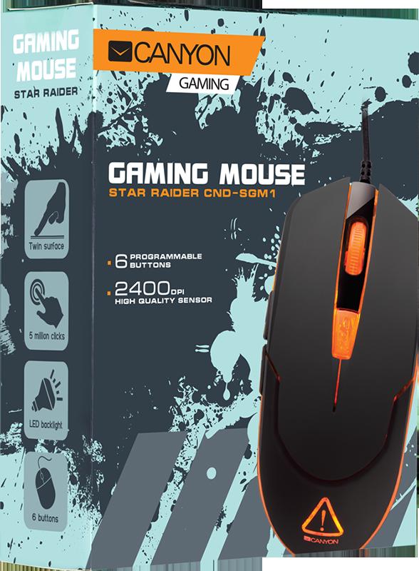 Мышь Canyon CND-SGM1 оптический проводная игровая для PCПростая и удобная мышь для уверенных побед. Оптимальная производительность CND-SGM1 подойдет как геймеру, так и ценителю продвинутых ПК-аксессуаров.<br>