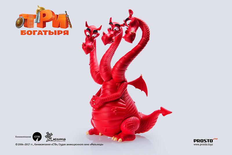 Фигурка Три богатыря: Змей Горыныч (11 см) Prosto Toys
