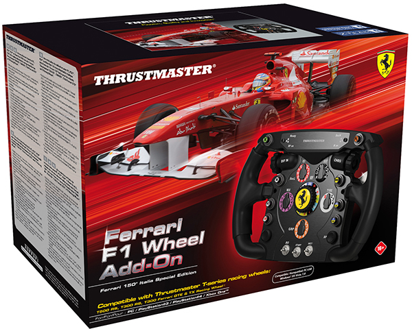 Съемное рулевое колесо Thrustmaster Ferrari F1 wheel для PC / PS4 / Xbox One / PS3 гоночный руль thrustmaster t300 ferrari gte eu version для ps4 ps3 и pc
