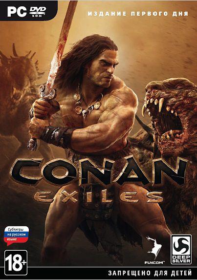 Conan Exiles. Издание первого дня [PC]Conan Exiles – игра о выживании в жестоком открытом мире по книгам о Конане-варваре. Вы – отверженный и обездоленный изгнанник, обреченный скитаться по дикой пустоши, где сгинут слабые и выживут только сильные. Вам придется бороться за жизнь, возводить постройки и покорять мир – в одиночку на собственном сервере или с врагами и союзниками в режиме совместной сетевой игры.<br>