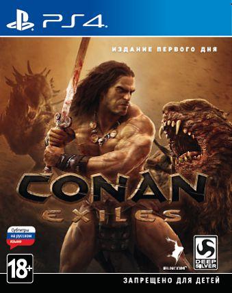 Conan Exiles. Издание первого дня [PS4]&amp;lt;!--&amp;lt;p&amp;gt;Conan Exiles – игра о выживании в жестоком открытом мире по книгам о Конане-варваре. Вы – отверженный и обездоленный изгнанник, обреченный скитаться по дикой пустоши, где сгинут слабые и выживут только сильные. Вам придется бороться за жизнь, возводить постройки и покорять мир – в одиночку на собственном сервере или с врагами и союзниками в режиме совместной сетевой игры. &amp;lt;/p&amp;gt;--&amp;gt;<br><br>&amp;lt;p style=margin-bottom: 8px;&amp;gt;Закажите издание первого дня игры Conan Exiles для PS4 до 17:00 часов 4 мая 2018 года и получите дополнительные 150 бонусов на вашу карту.&amp;lt;/p&amp;gt;<br>