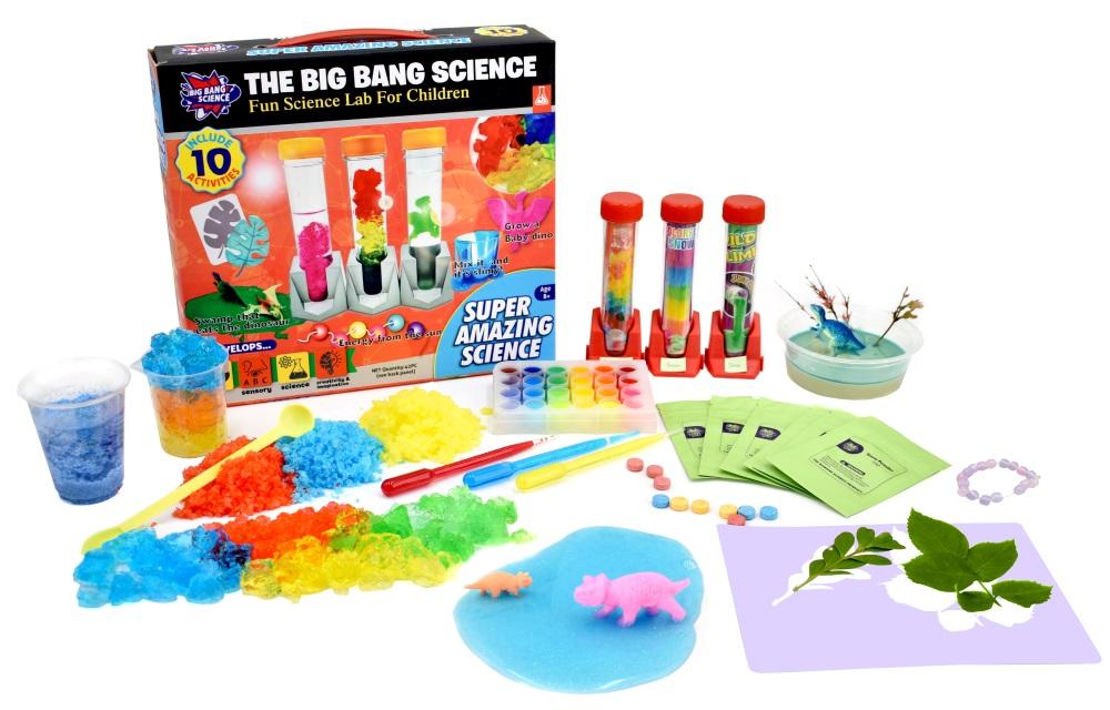 Набор научный Удивительная наука: Набор экспериментовВеселые научные эксперименты для детей «Big Bang Science». Научный набор Удивительная наука: Набор экспериментов развивает сенсорику, интерес к искусству, науке, творческое воображение.<br>
