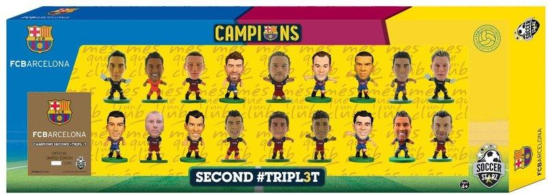 Набор фигурок Barcelona Treble Winners Celebration: 18 Player TeamНабор фигурок Brazil: 15 Player Team включает в себя 18 фигурок игроков испанского профессионального футбольного клуба «Барселона».<br>