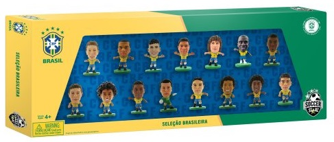 Набор фигурок Brazil: 15 Player TeamНабор фигурок Brazil: 15 Player Team включает в себя 15 фигурок игроков сборной Бразилии по футболу.<br>