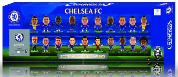 Набор фигурок Chelsea 2015 League Winners: 20 Player TeamНабор фигурок Chelsea 2015 League Winners: 20 Player Team включает в себя 20 фигурок игроков английского профессионального футбольного клуба «Челси».<br>