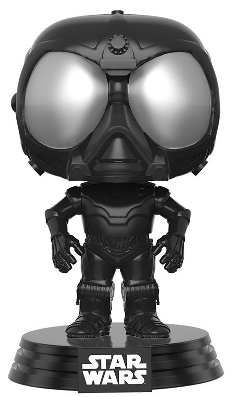 Фигурка Funko POP: Star Wars Rogue One – Death Star Droid Black Bobble-Head (9,5 см) dhl lepin 05055 star series military war the rogue one usc vader tie advanced fighter compatible 10175 building bricks block toy