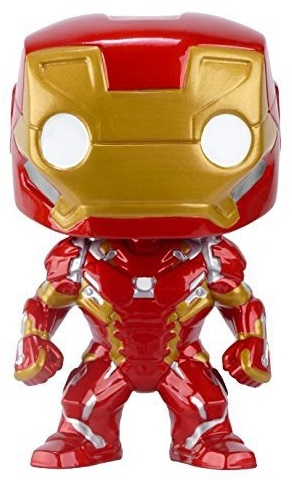 Фигурка Marvel Captain America Civil War Funko POP: Iron Man Bobble-Head (9,5 см) captain america civil war bobble head pvc action figure collectible model toy doll 10cm