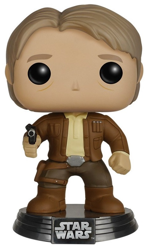 Фигурка Star Wars Episode VII The Force Awakens Funko POP: Han Solo Bobble-Head (9,5 см) stzhou lepin 05006 star 1053pcs toys wars the force awakens kylo ren command shuttle model building kits blocks bricks boy gift