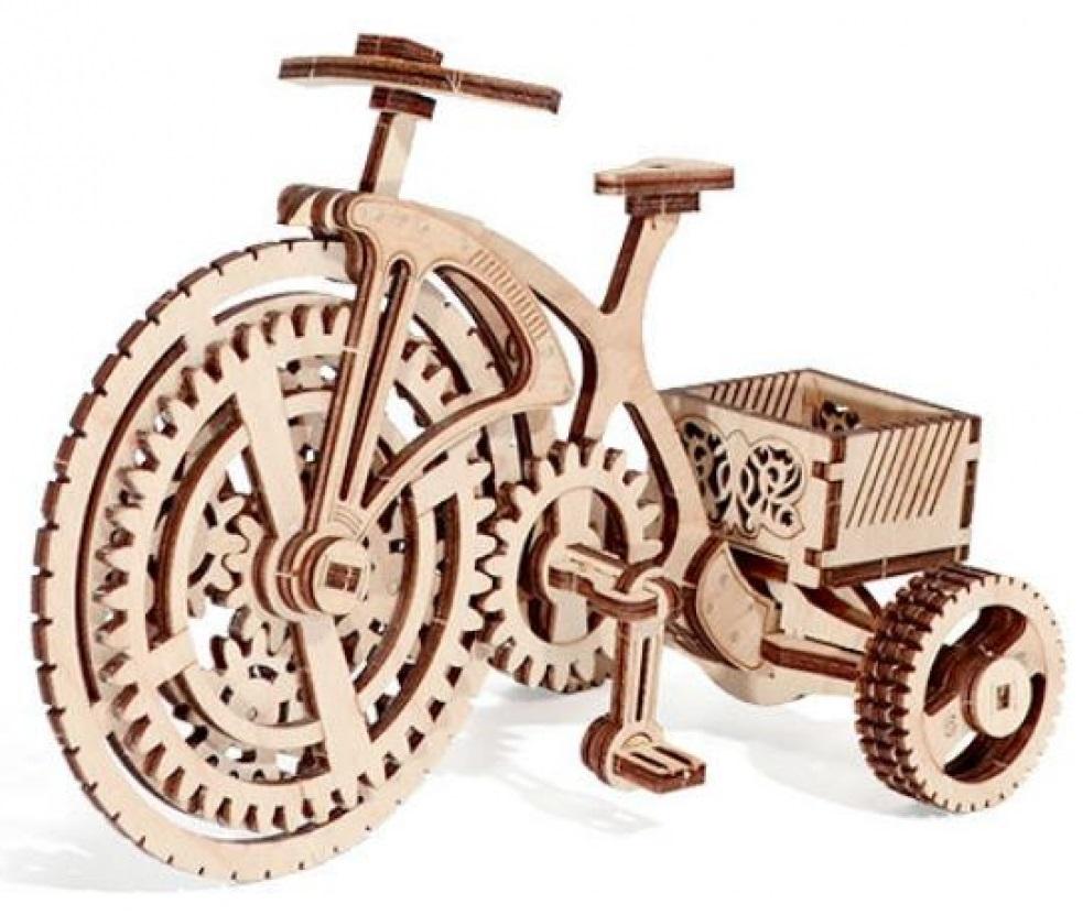 Конструктор деревянный Велосипед-визитница
