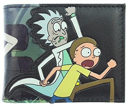 Кошелек двойного сложения Rick and Morty сумка printio рик и морти  rick and morty