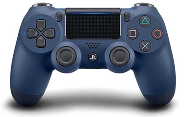 Беспроводной геймпад Dualshock 4 Cont Midnight Blue для PS4 (полуночный синий)