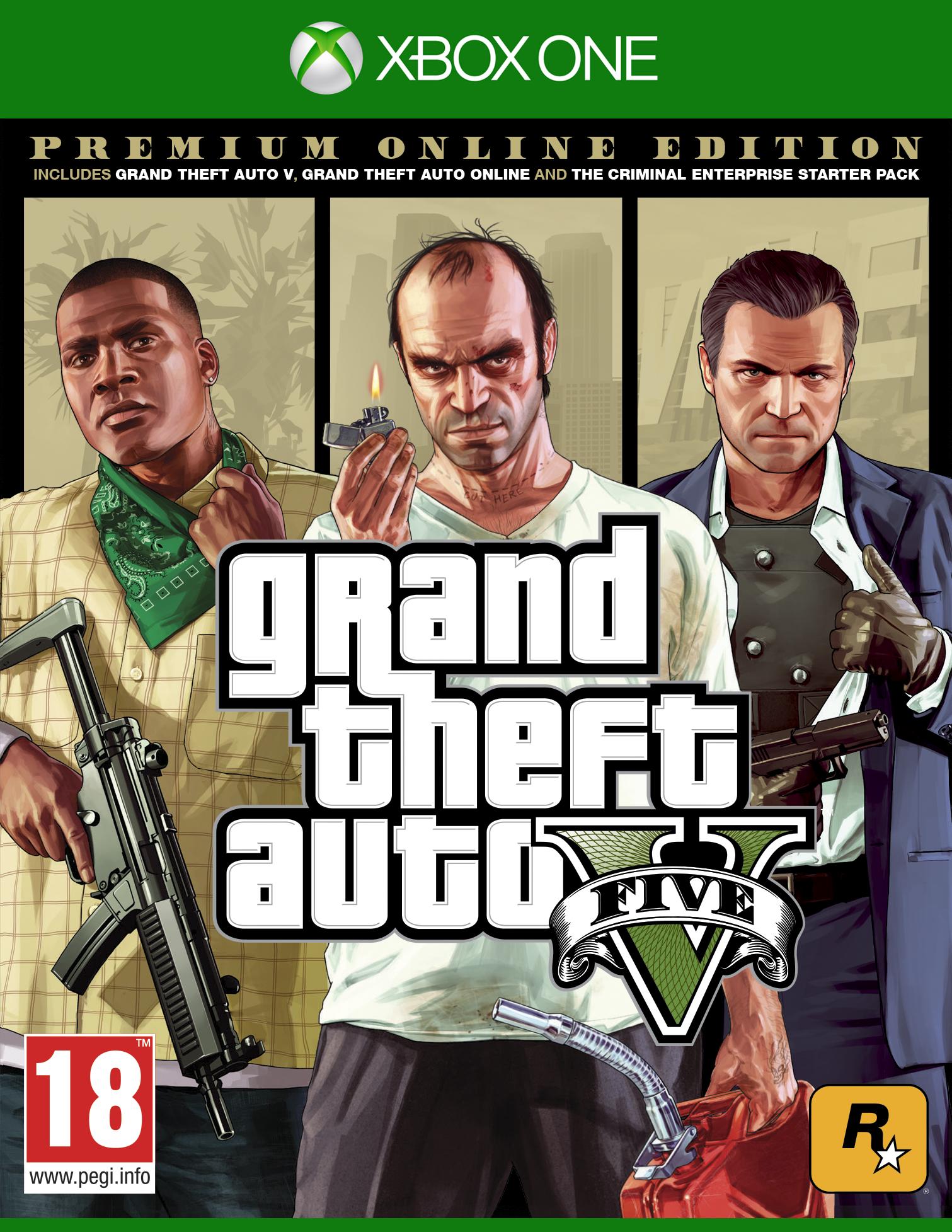 Grand Theft Auto V. Premium Online Edition [Xbox One]В издание Grand Theft Auto V: Premium Online Edition входит сюжетный режим Grand Theft Auto V, постоянно развивающийся мир Grand Theft Auto Online и все ранее выпущенные материалы и обновления, в том числе «Ограбление «Судный день», «Торговля оружием», «Контрабандисты», «Байкеры» и многое другое.<br>