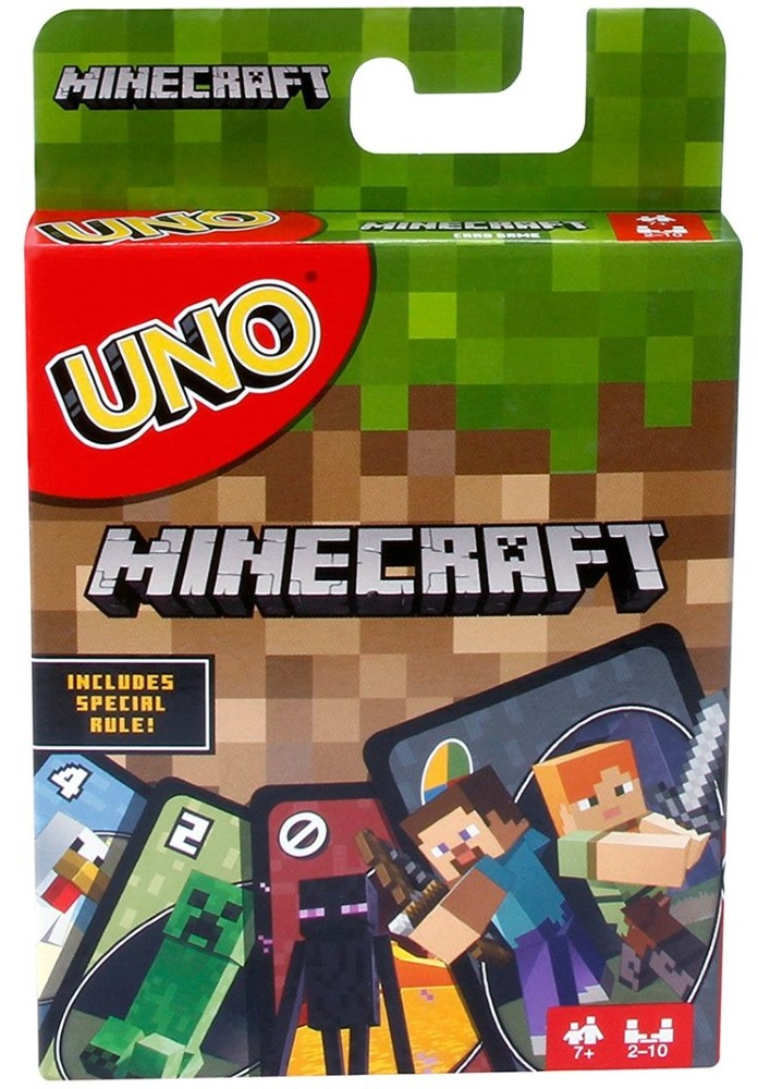 Настольная игра Уно Майнкрафт mattel minecraft cjh36 майнкрафт фигурка персонажей