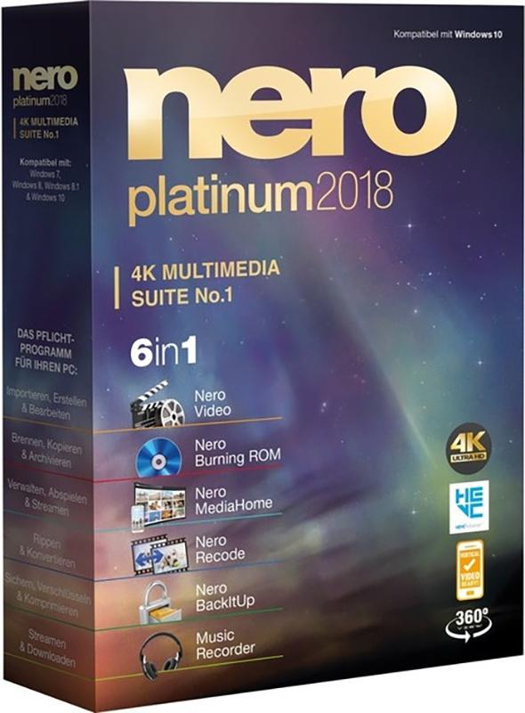 Nero 2018 Platinum Suite (Цифровая версия)